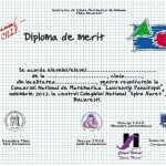 diploma de merit concurs 2012