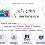 diploma de participare 2 concurs 2013